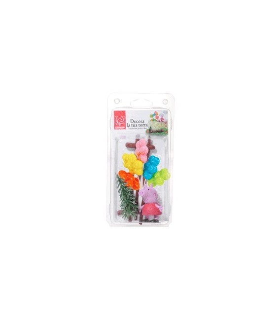 KIT SOGGETTO DECORATIVO PEPPA PIG PLASTICA