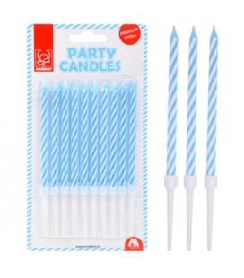 CANDELE PARTY  H 10 CM AZZURRA