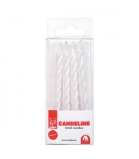 CANDELE PERLATE BIANCHE H 6,5 CM