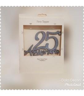 CAKE TOPPER NUMERO 25 ANNIVERSARIO