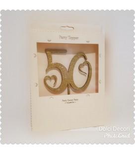 CAKE TOPPER NUMERO 50